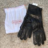 Coach Other | Coach Leather Gloves | Color: Black | Size: Os