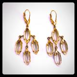 Kate Spade Jewelry | Kate Spade Kahina Crystal Gold Chandelier Earrings | Color: Gold | Size: Os