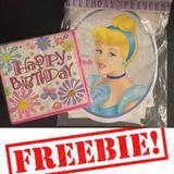 Disney Party Supplies | Freecinderella Birthday Banner & Napkins | Color: Pink/White | Size: Os