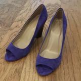 J. Crew Shoes   J Crew Peep Toe Wedge Heel   Color: Blue/Purple   Size: 8.5