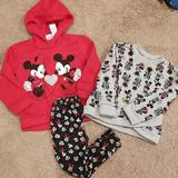 Disney Matching Sets   Disney Mickey & Minnie Sweatshirts Size 4t   Color: Black/Red   Size: 4tg