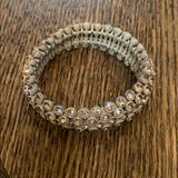 J. Crew Jewelry | Jcrew Crystal Elastic Bracelet | Color: Gold | Size: Os