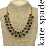 Kate Spade Jewelry | Kate Spade Multicolored Gem Necklace Nwt | Color: Gold/Pink | Size: Os