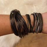 Urban Outfitters Jewelry   Dark Gray & Silver Bangle & Stretch Bracelet Set   Color: Gray/Silver   Size: Os
