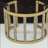 Michael Kors Jewelry | Michael Kors Gold Tone Stainless Steel Cuff | Color: Gold | Size: Os