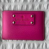 Kate Spade Accessories | Kate Spade Leather Card Case Mini Wallet | Color: Pink/Tan | Size: Os