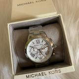 Michael Kors Accessories | Michael Kors Women'S Runway Silver-Tone Watch | Color: Silver/White | Size: Os