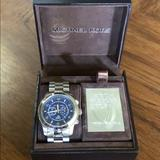 Michael Kors Accessories | Michael Kors Watch Hunger Stop Watch | Color: Blue/Silver | Size: Os