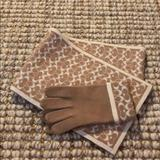 Coach Accessories | Coach Scarf & Glove Set | Color: Cream/Tan | Size: Os
