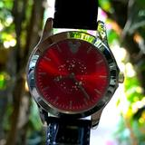 Disney Accessories | A Vintage Mickey Face On A Red Dial Watch | Color: Black/Red | Size: Os