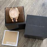 Michael Kors Accessories | Michael Kors Watch | Color: Brown/Gold/Pink | Size: Os