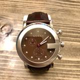 Gucci Accessories | Mens Diamond Dial Chronograph Watch | Color: Brown/Silver | Size: Os