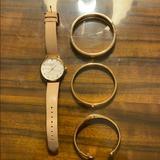 Kate Spade Jewelry   Kate Spade Watch & 3 Bracelets   Color: Cream/Gold   Size: Os