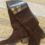 Tory Burch Shoes | New Tory Burch Tall Brown Suede Boots | Color: Brown | Size: 7
