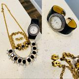 J. Crew Jewelry | Jcrew Jewelry And Eitenne Aigner Watch | Color: Black/Gold | Size: Various