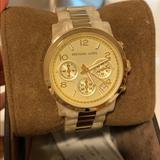 Michael Kors Jewelry | Michael Kors Watch | Color: Cream/Gold | Size: Os
