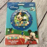 Disney Party Supplies   Disney Happy Birthday Club House Balloon   Color: Blue   Size: Os
