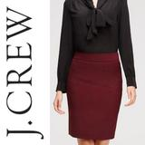 J. Crew Skirts | (Nwt) J.Crew Mercantile Red Pencil Skirt | Color: Red | Size: 6