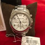 Michael Kors Accessories | Michael Kors Silver Bedazzled Wrist Watch | Color: Silver | Size: Os