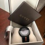 Gucci Accessories | Gucci Unisex Black Rubber Strap Watch | Color: Black | Size: 44mm