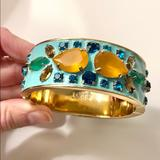J. Crew Jewelry | J. Crew Blue Enamel Bracelet | Color: Blue/Gold | Size: Os