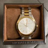 Michael Kors Accessories   Michael Kors Women Two Tone Watch   Color: Gold/Silver   Size: Os