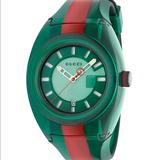 Gucci Accessories | Gucci Striped Rubber Watch | Color: Green/Red | Size: Os