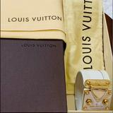 Louis Vuitton Jewelry | Louis Vuitton Suhali Leather Cuff Bracelet | Color: Cream | Size: Medium