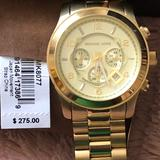 Michael Kors Accessories | Michael Korsoversized Chronograph Gold Watch 45mm | Color: Gold | Size: 45mm