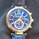 Michael Kors Accessories | Designer Watch | Color: Blue/Gold | Size: Os