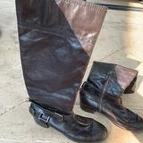 Nine West Shoes | Knee High Flat Boots Brown | Color: Brown | Size: 9