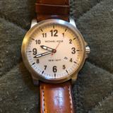 Michael Kors Accessories | Paxton Quartz White Dial Men'S Watch Michael Kors | Color: Brown/Silver | Size: Os
