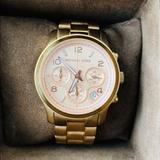 Michael Kors Accessories | Michael Kors Runway Chronograph - Rose Gold | Color: Gold | Size: Os