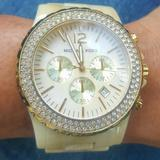 Michael Kors Accessories | Michael Kors Mk5558 Madison Mother Of Pearl Watch | Color: Gold/Tan | Size: Os