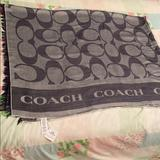 Coach Accessories   Nwt Coach Pashmina Blue And Grey Shawl Scarf   Color: Blue/Gray   Size: Os