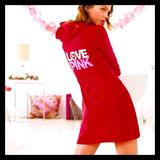 Pink Victoria's Secret Intimates & Sleepwear | Vintagerarehtf Terry Cloth Robe | Color: Red | Size: L