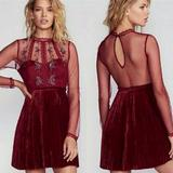 Free People Dresses | Free People Red Ariel Pleated Mini Dress | Color: Red | Size: 0