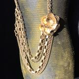 Jessica Simpson Jewelry   Jessica Simpson Gold Flower Chain Necklace.   Color: Gold   Size: 18 With 2 Extender