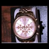 Michael Kors Accessories | Michael Kors Chronograph Watch | Color: Gold | Size: Os