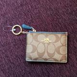 Coach Bags | Coach Card Case Wallet | Color: Green | Size: Os