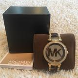 Michael Kors Accessories   Michael Kors Womens Gold-Tone Tortoise Watch   Color: Brown/Gold   Size: Os