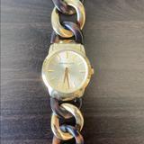 Michael Kors Accessories   Michael Kors Tortoise & Gold Bracelet Style Watch   Color: Gold   Size: Os