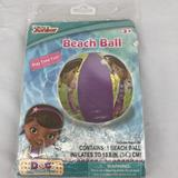 Disney Other   Inflatable Beach Ball Featuring Doc Mcstuffins Nip   Color: Green/Purple   Size: 13.5