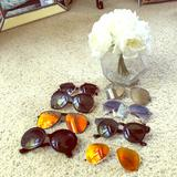 Free People Accessories | 8 Pairs Of Fashion Sunglasses Bundle | Color: Black/Silver | Size: Os