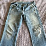 American Eagle Outfitters Jeans | American Eagle Vintage Distressed Mens Jeans | Color: Blue | Size: 34x32