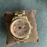 Michael Kors Accessories | Michael Kors Gold Watch With Rose Gold Face | Color: Gold/Pink | Size: Os