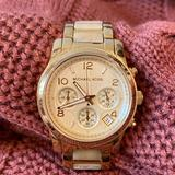 Michael Kors Accessories   Michael Kors Gold Watch With Mother Of Pearl Inlay   Color: Gold/White   Size: Os