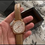 Michael Kors Accessories   Michael Kors Leather Watch Stainless Steel   Color: Tan   Size: Os