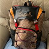 Coach Bags | Coach Unisex Stylish Backpack Colorful Nwot | Color: Red/Tan | Size: Os