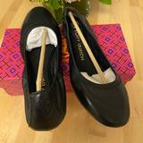 Tory Burch Shoes | Eddie Smooth Ballet Flats Leather Casual Comfy | Color: Black | Size: Various